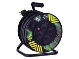 Predlžovací kábel na bubne 50m 3x2,5mm2 4zásuvky