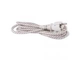 Kábel napájací 3x0,75mm 10A 250V 2,4m opletený