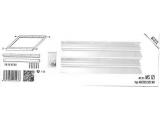 Rám MS221 SI pre LED panel-strieborná