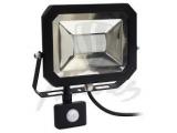 Reflektor 30W LED SMD čierny so senzorom