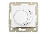 Termostat Valena 774227 konfort biela otočný