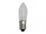 Žiarovka E10 34V 3W sviečková číra
