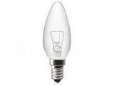 Žiarovka E14 60W 240V sviečková číra
